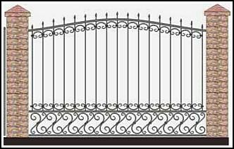 Забор кованый ЗКВ №35