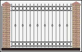 Забор кованый ЗКВ №36