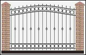 Забор кованый ЗКВ №37