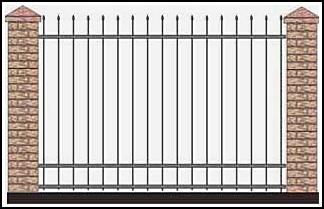 Забор кованый ЗКВ №38