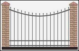Забор кованый ЗКВ №39