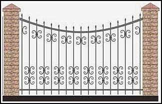Забор кованый ЗКВ №41