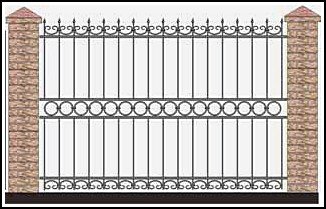 Забор кованый ЗКВ №42
