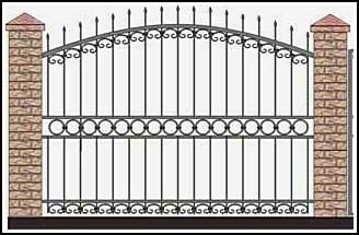 Забор кованый ЗКВ №43