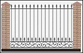 Забор кованый ЗКВ №44