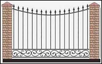 Забор кованый ЗКВ №45