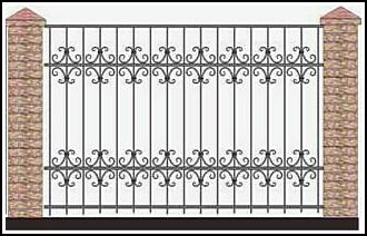 Забор кованый ЗКВ №46