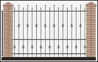 Забор кованый ЗКВ №47