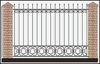 Забор кованый ЗКВ №48