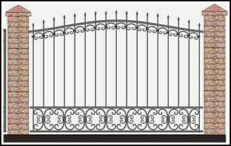 Забор кованый ЗКВ №49
