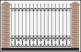 Забор кованый ЗКВ №50
