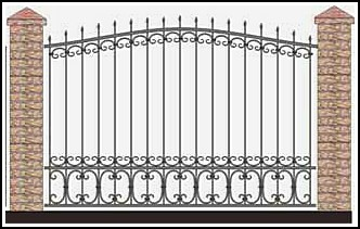 Забор кованый ЗКВ №51