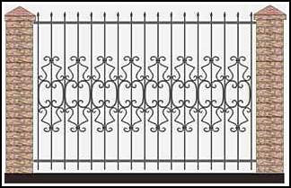 Забор кованый ЗКВ №52