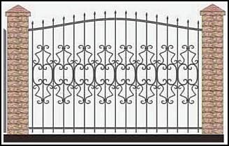 Забор кованый ЗКВ №53