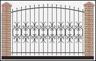 Забор кованый ЗКВ №55