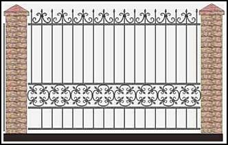 Забор кованый ЗКВ №56
