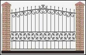 Забор кованый ЗКВ №57