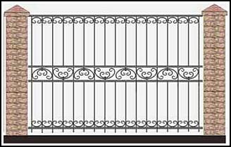 Забор кованый ЗКВ №58
