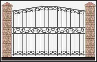 Забор кованый ЗКВ №59