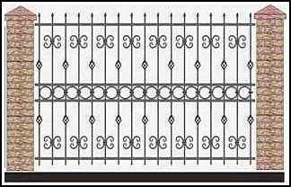 Забор кованый ЗКВ №60