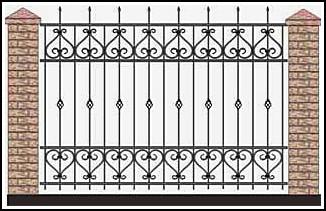 Забор кованый ЗКВ №61