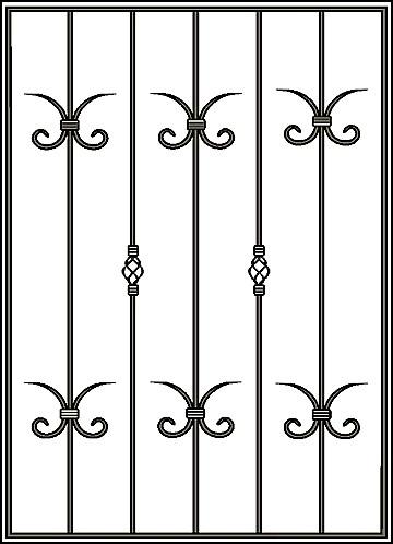 Решетка на окно Арт. КВ №6