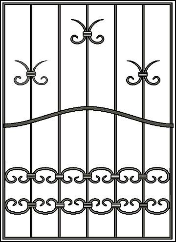 Решетка на окно Арт. КВ №18