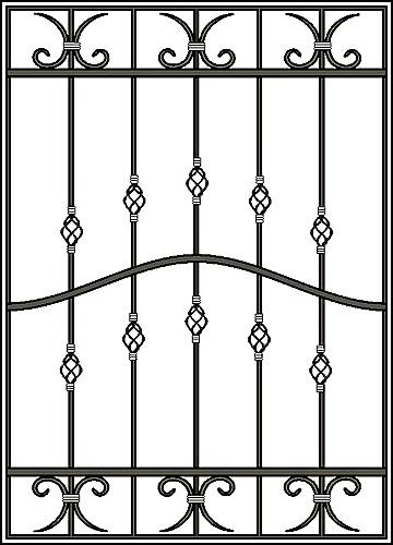 Решетка на окно Арт. КВ №19