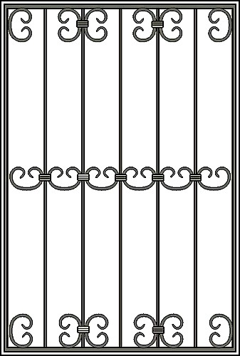 Решетка на окно Арт. КВ №22