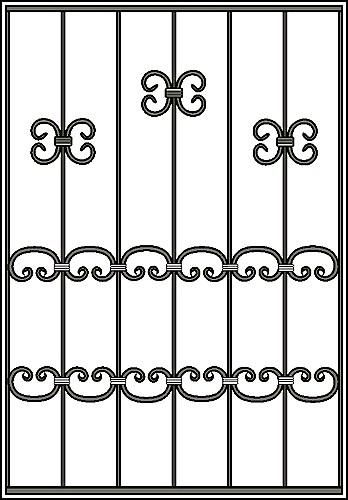 Решетка на окно Арт. КВ №24