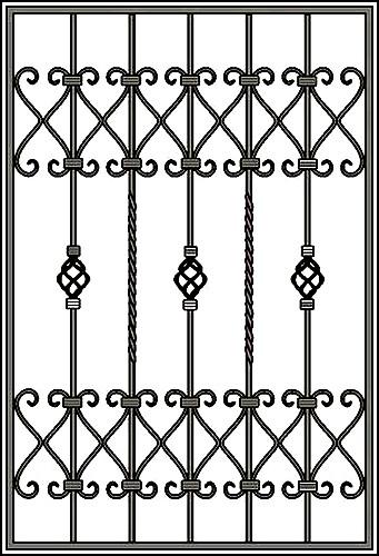 Решетка на окно Арт. КВ №39