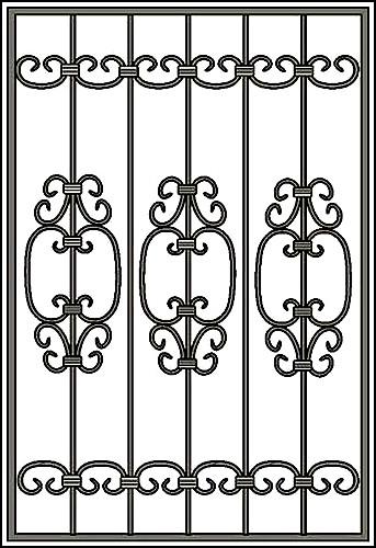 Решетка на окно Арт. КВ №41