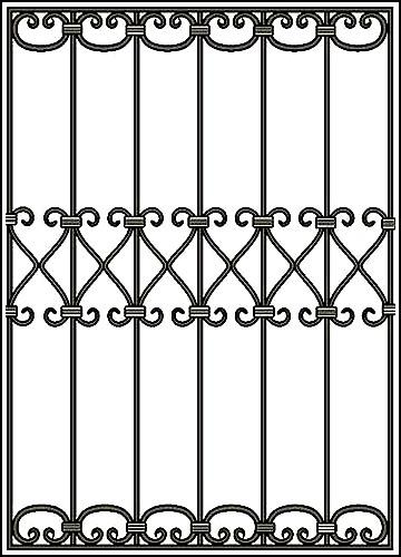 Решетка на окно Арт. КВ №43