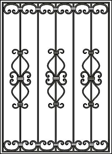 Решетка на окно Арт. КВ №44
