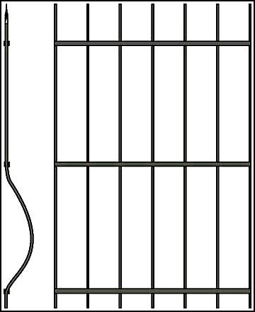 Кованая решетка Арт. КВ №49