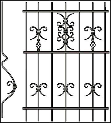 Решетка на окно Арт. КВ №50