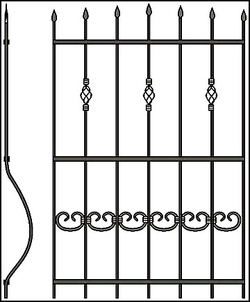 Решетка на окно Арт. КВ №51