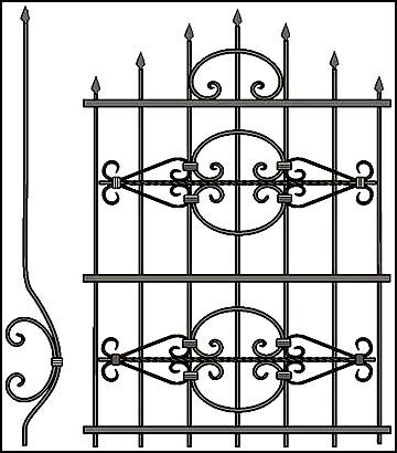 Решетка на окно Арт. КВ №52
