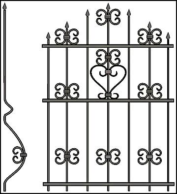 Решетка на окно Арт. КВ №54