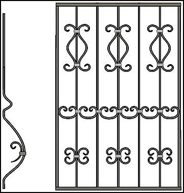 Решетка на окно Арт. КВ №55