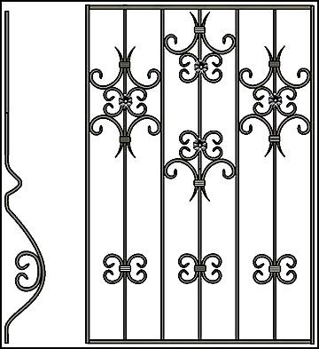 Решетка на окно Арт. КВ №60