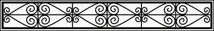 Ограда сварная ОС №1.<br />Секция высотой от 300 до 400 мм.