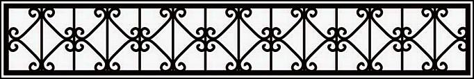 Сварная ограда ОС №2.<br />Секция высотой от 300 до 500 мм.