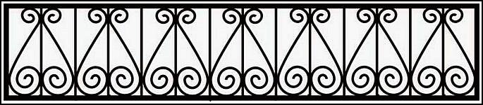 Ограда сварная ОС №3.<br />Секция высотой от 400 до 550 мм.