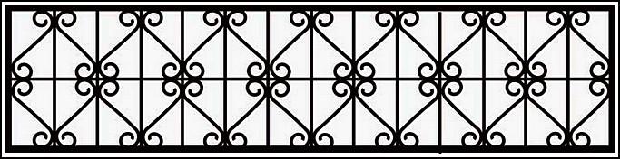 Сварная ограда ОС №4.<br />Секция высотой от 450 до 500 мм.