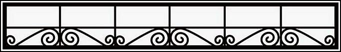 Сварная ограда ОС №6. <br />Секция высотой 300 мм.