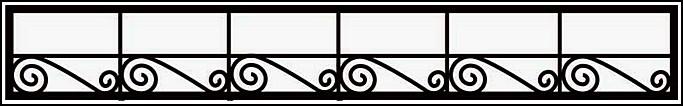 Сварная ограда ОС №7. <br />Секция высотой 300 мм.