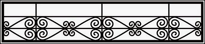 Сварная ограда ОС №8.<br />Секция высотой от 300 до 400 мм.