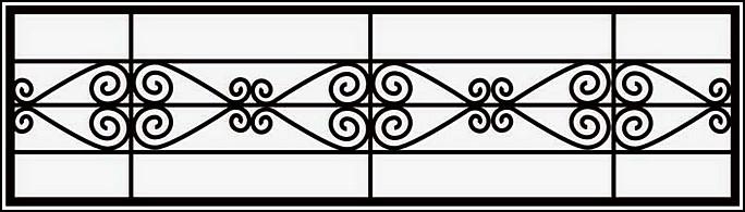 Ограда сварная ОС №11.<br />Секция высотой от 400 до 600 мм.