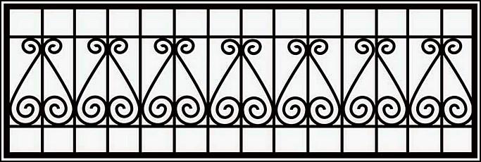 Сварная ограда ОС №12.<br />Секция высотой от 600 до 900 мм.